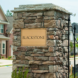 Signage for Blackstone subdivision in Grovetown, Ga.